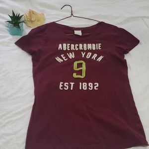 Maroon size L but fits like size small in junior